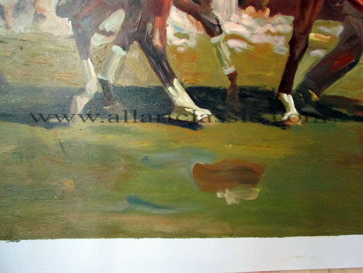 Art Reproductions Munnings-Artwork_C. Our Oil Painting Reproduction -Zoom Details