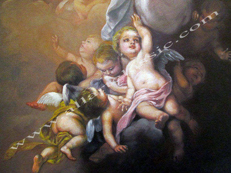 Art Reproductions Murillo_Paintings_Assumption_of_the_Virgin_L_B. Our Oil Painting Reproduction -Zoom Details