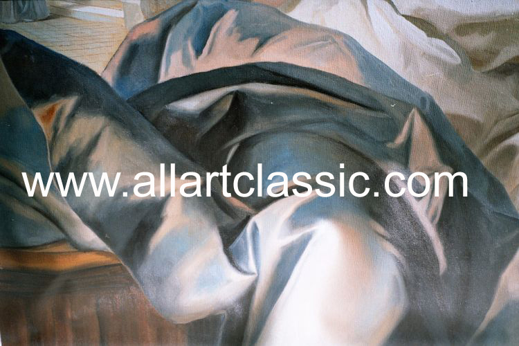 Art Reproductions Nattier_001N_B. Our Oil Painting Reproduction -Zoom Details