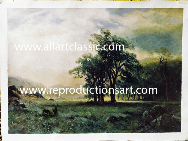 Bierstadt Painting Work sample