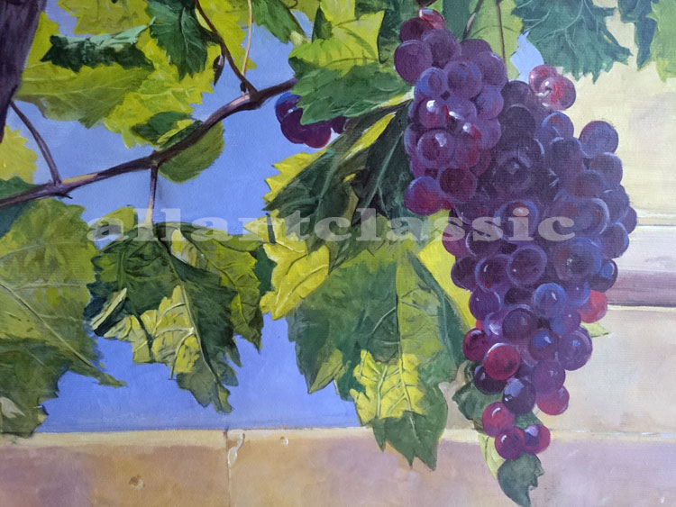 Art Reproductions Painting-of-Grapes-in-a-Landscape_B. Our Oil Painting Reproduction -Zoom Details