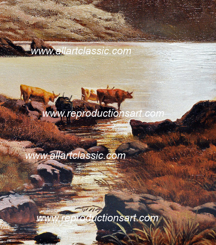 Art Reproductions Percy-Painting_002N_A. Our Oil Painting Reproduction -Zoom Details
