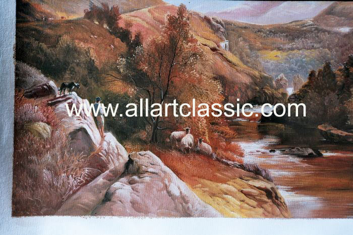 Art Reproductions Percy_Paintings_001N_A. Our Oil Painting Reproduction -Zoom Details
