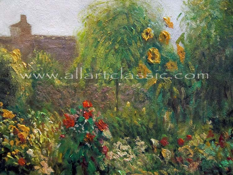 Art Reproductions Pissarro-painting-S_A. Our Oil Painting Reproduction -Zoom Details