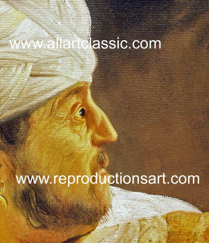 Art Reproductions Rembrandt_007N_D. Our Oil Painting Reproduction -Zoom Details
