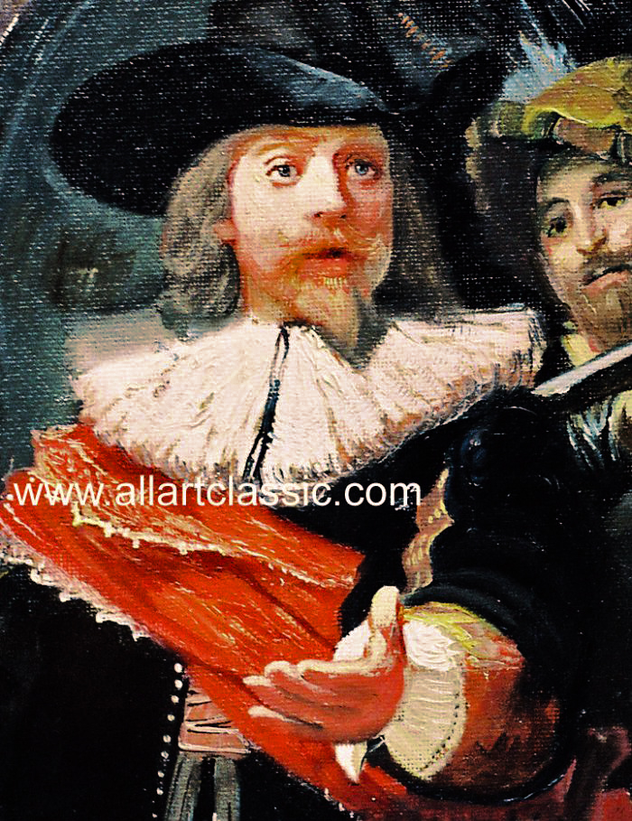 Art Reproductions Rembrandt_Paintings_Reproductions_001N_A. Our Oil Painting Reproduction -Zoom Details