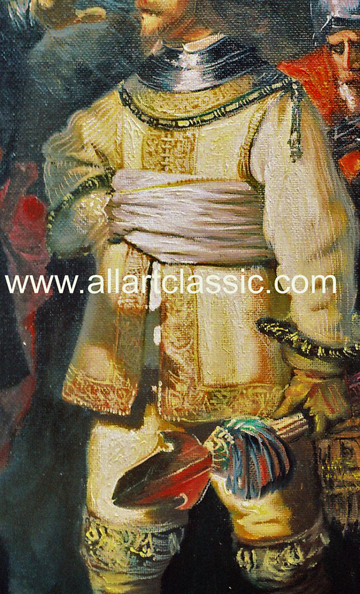 Art Reproductions Rembrandt_Paintings_Reproductions_001N_B. Our Oil Painting Reproduction -Zoom Details