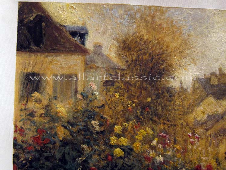 Art Reproductions Renoir-Painting-Garden-S_B. Our Oil Painting Reproduction -Zoom Details