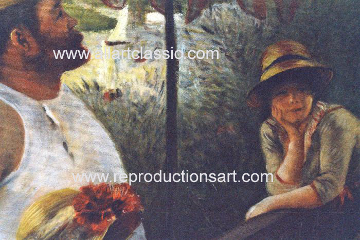 Art Reproductions Renoir_Party_001N_A. Our Oil Painting Reproduction -Zoom Details
