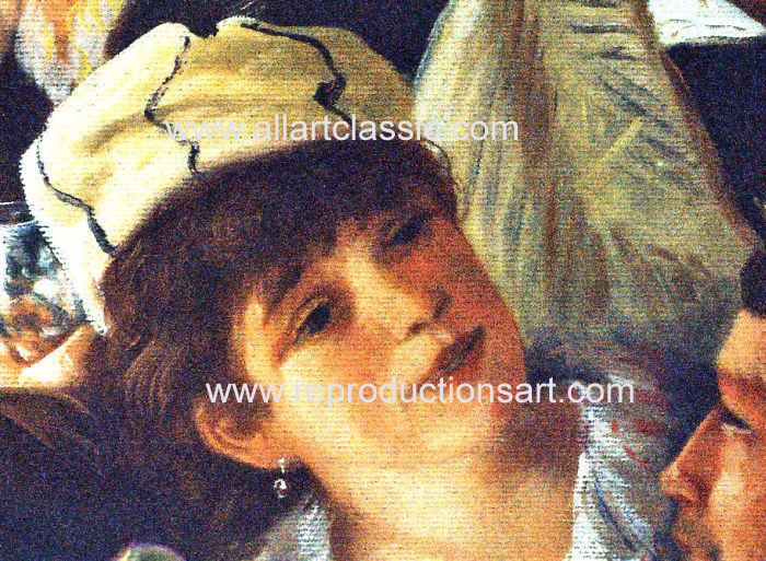 Art Reproductions Renoir_Party_001N_C. Our Oil Painting Reproduction -Zoom Details