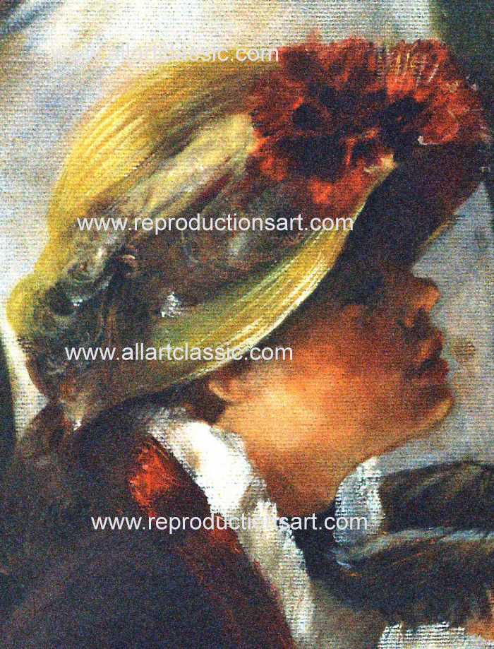 Art Reproductions Renoir_Party_001N_D. Our Oil Painting Reproduction -Zoom Details