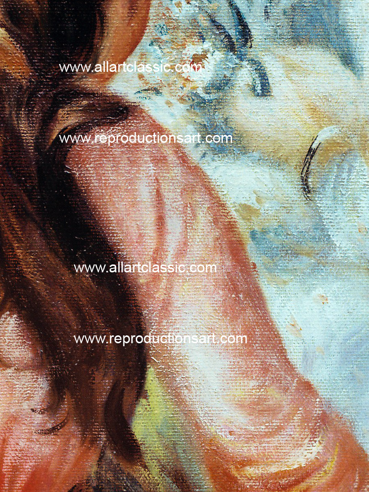 Art Reproductions Renoir_two_girls_001N_A. Our Oil Painting Reproduction -Zoom Details