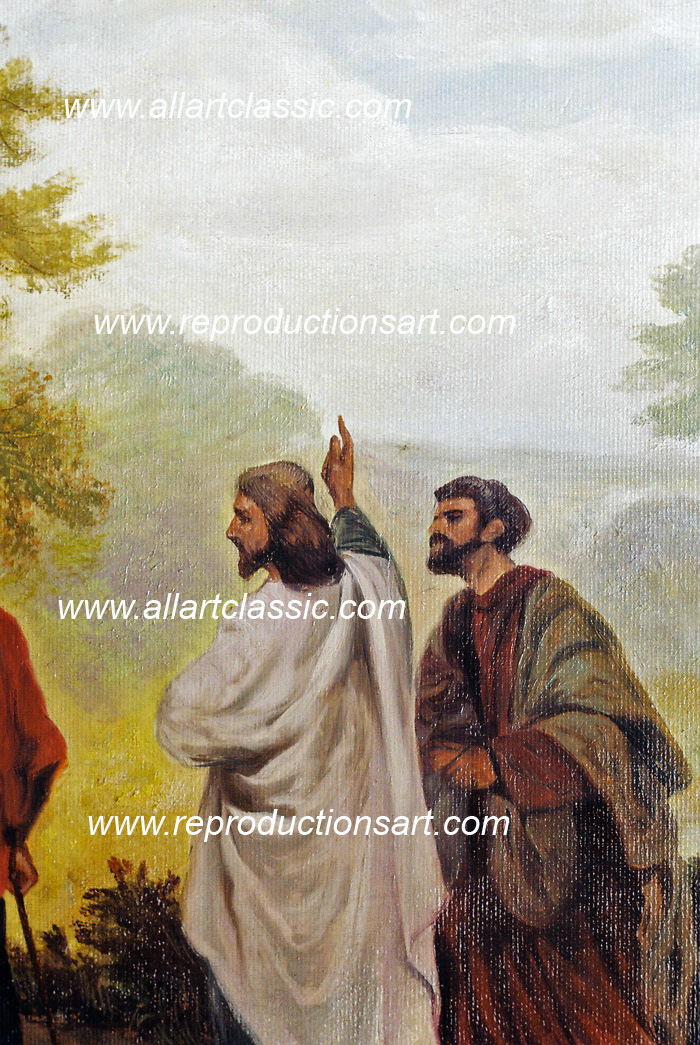Art Reproductions Road_to_Emmaus_001N_A. Our Oil Painting Reproduction -Zoom Details