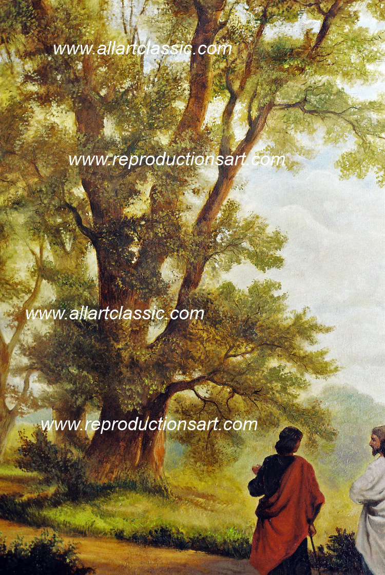 Art Reproductions Road_to_Emmaus_001N_B. Our Oil Painting Reproduction -Zoom Details