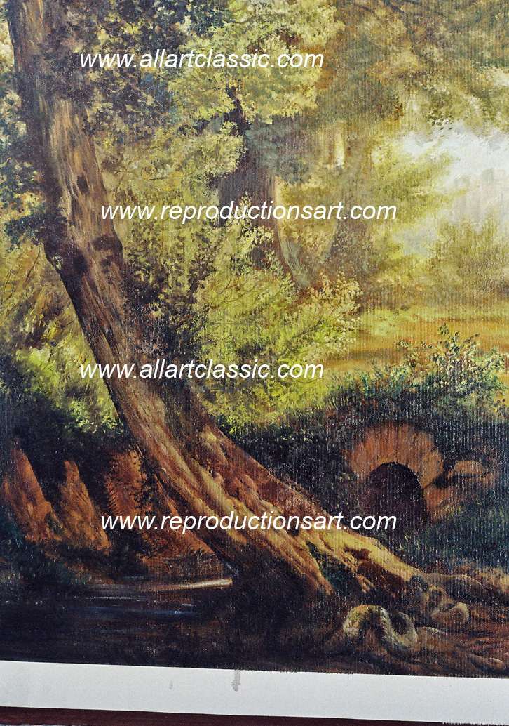 Art Reproductions Road_to_Emmaus_001N_C. Our Oil Painting Reproduction -Zoom Details