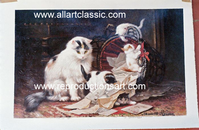 Oil Painting Reproductions of Henriette Ronner Knip Paintings