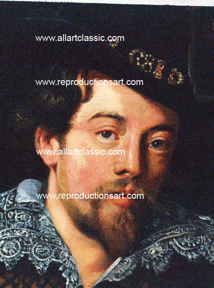 Art Reproductions Rubens_Portrait_001N_B. Our Oil Painting Reproduction -Zoom Details