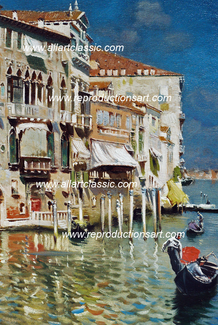 Art Reproductions Santoro-paintings_001N_B. Our Oil Painting Reproduction -Zoom Details