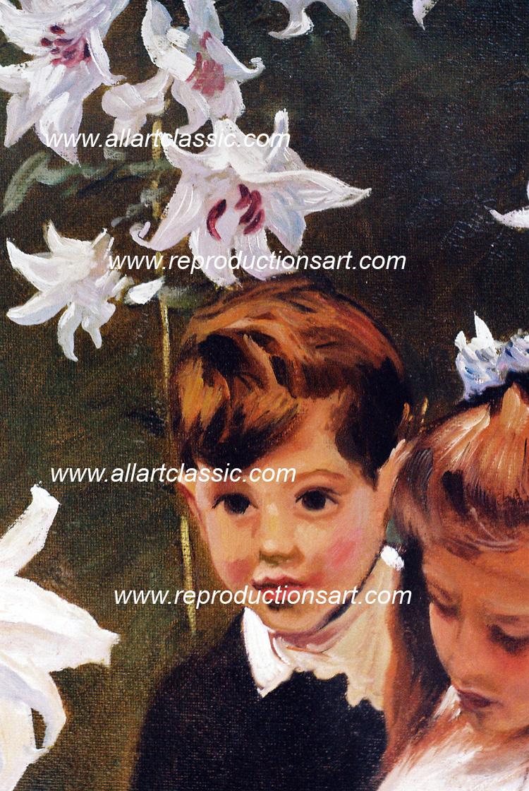 Art Reproductions Sargent-painting_036N_C. Our Oil Painting Reproduction -Zoom Details