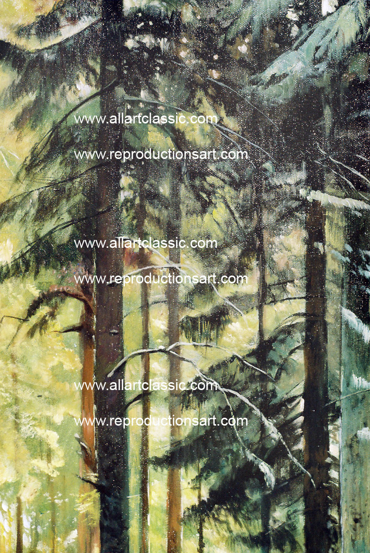 Art Reproductions Shishkin-Oil-Reproduction-L_B. Our Oil Painting Reproduction -Zoom Details