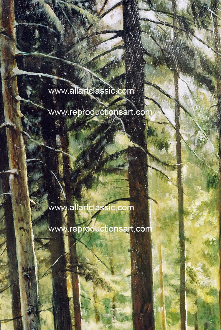 Art Reproductions Shishkin-Oil-Reproduction-L_C. Our Oil Painting Reproduction -Zoom Details