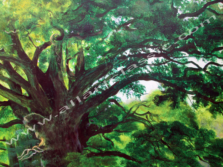 Art Reproductions Shishkin-Paintings-Oaks-in-Old-Peterhof-L_B. Our Oil Painting Reproduction -Zoom Details