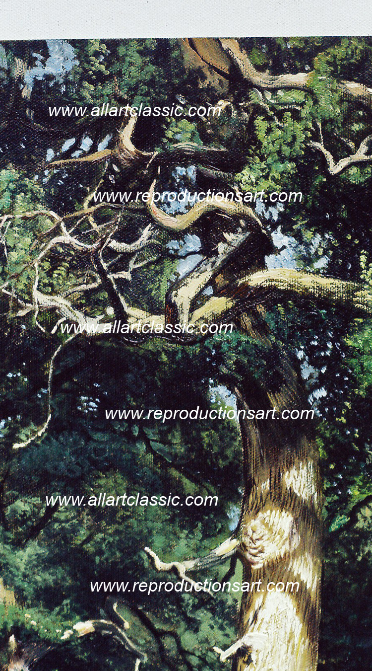 Art Reproductions Shishkin_painting_007N_B. Our Oil Painting Reproduction -Zoom Details