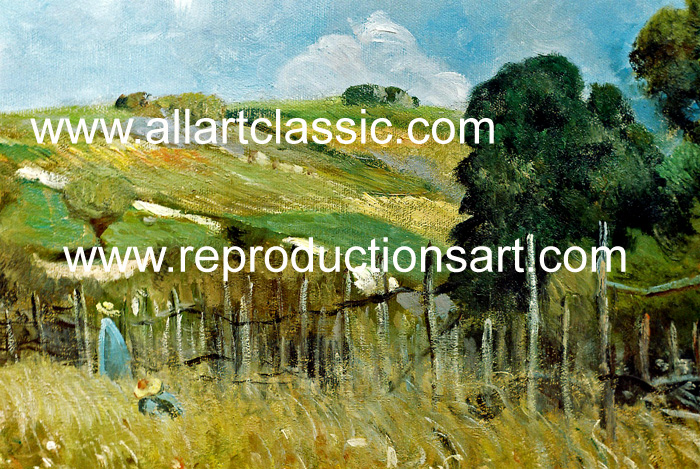 Art Reproductions Sisley_003N_B. Our Oil Painting Reproduction -Zoom Details