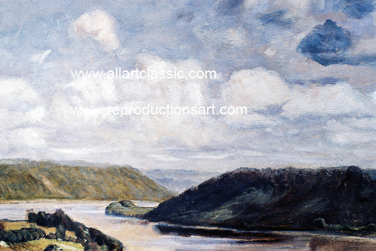 Art Reproductions Steele-Ohio-River-L_A. Our Oil Painting Reproduction -Zoom Details