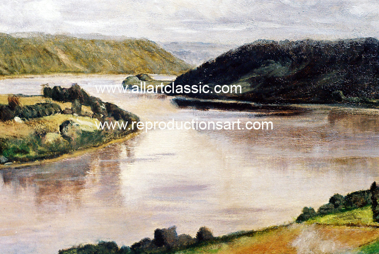 Art Reproductions Steele-Ohio-River-L_B. Our Oil Painting Reproduction -Zoom Details