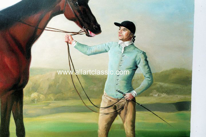 Art Reproductions Stubbs_111N_A. Our Oil Painting Reproduction -Zoom Details