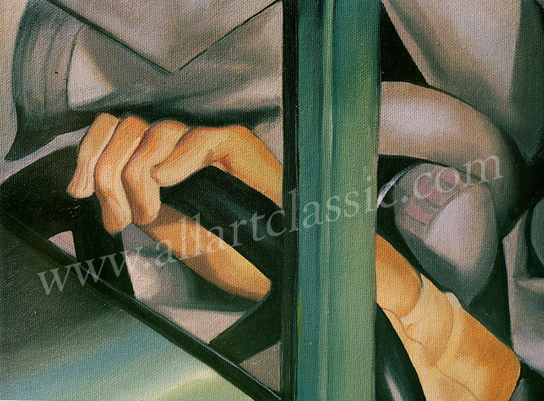 Art Reproductions Tamara_de_Lempicka_LET020N_C. Our Oil Painting Reproduction -Zoom Details