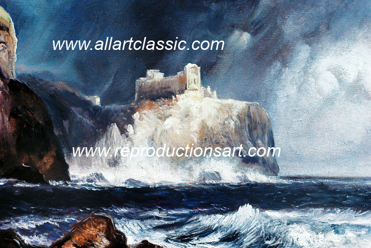 Art Reproductions Thomas-Moran_006N_A. Our Oil Painting Reproduction -Zoom Details