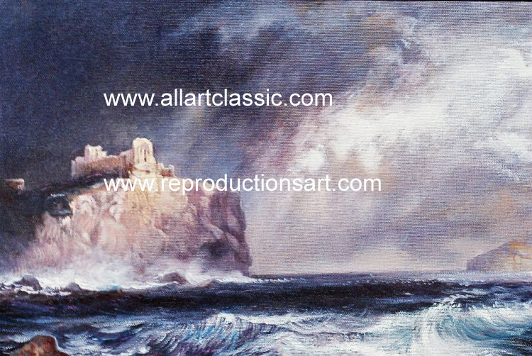 Art Reproductions Thomas_Moran_220N_A. Our Oil Painting Reproduction -Zoom Details