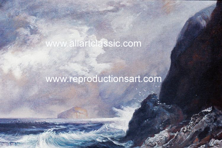 Art Reproductions Thomas_Moran_220N_B. Our Oil Painting Reproduction -Zoom Details
