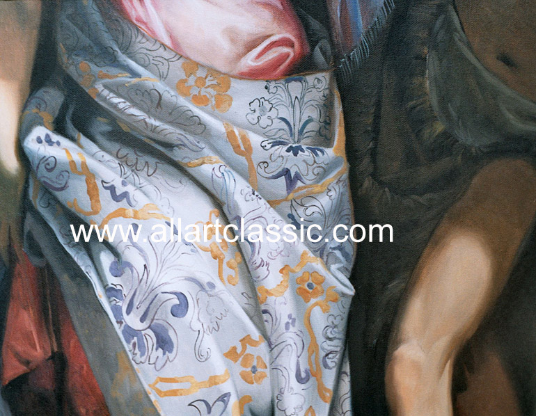 Art Reproductions VEP040N_A. Our Oil Painting Reproduction -Zoom Details