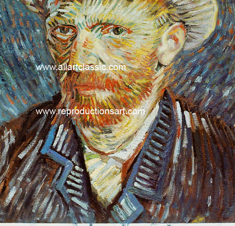 Art Reproductions Van_Gogh_Selfportrait_001N_B. Our Oil Painting Reproduction -Zoom Details