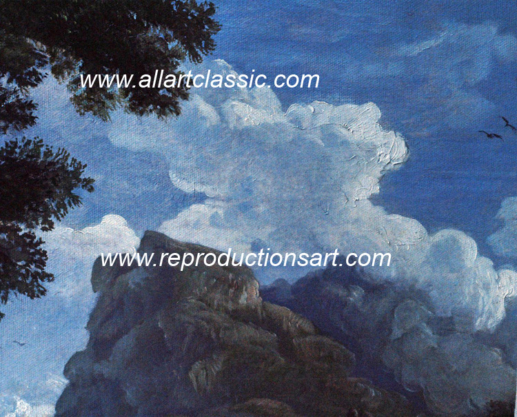 Art Reproductions Vernet-painting_003N_A. Our Oil Painting Reproduction -Zoom Details