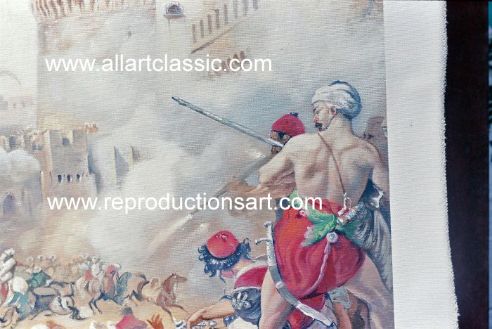 Art Reproductions Vernet_002N_B. Our Oil Painting Reproduction -Zoom Details