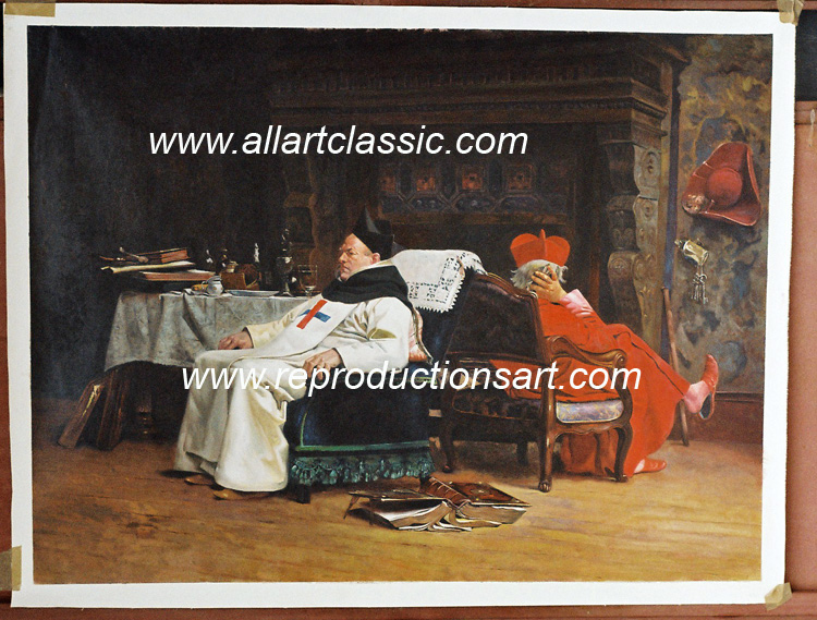 Jehan Georges Vibert Painting Work sample