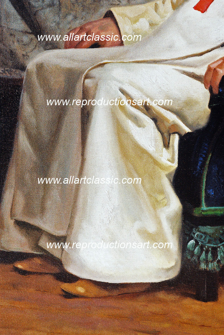 Art Reproductions Vibert_Schism_001N_A. Our Oil Painting Reproduction -Zoom Details
