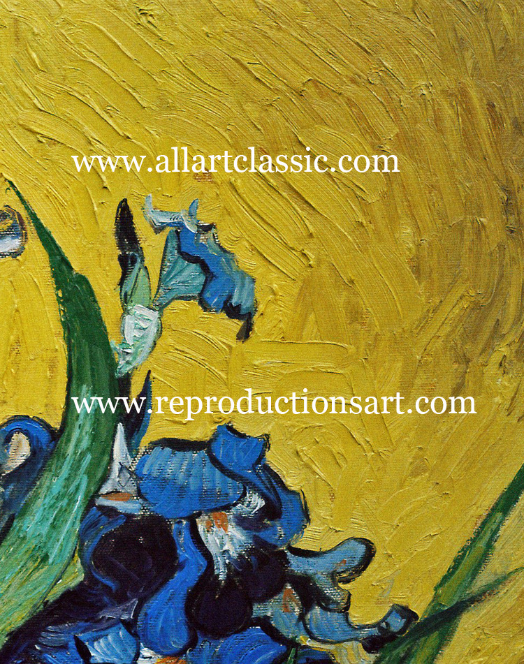 Art Reproductions Vincent-Van-Gogh-Irises_1_A. Our Oil Painting Reproduction -Zoom Details