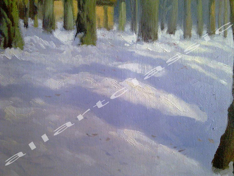 Art Reproductions Winter-Landscape-L_D. Our Oil Painting Reproduction -Zoom Details