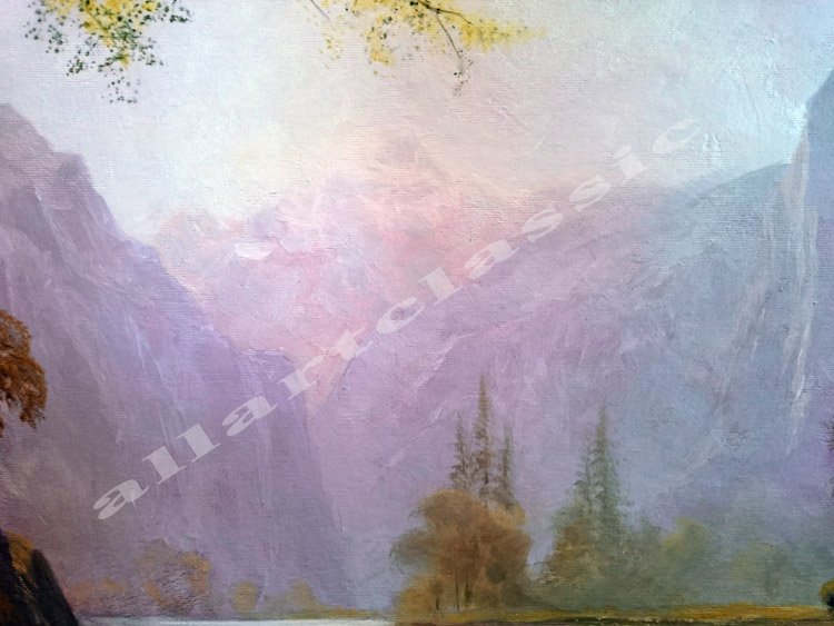 Art Reproductions bierstadt_painting_Kern_River_Valley_California_D. Our Oil Painting Reproduction -Zoom Details
