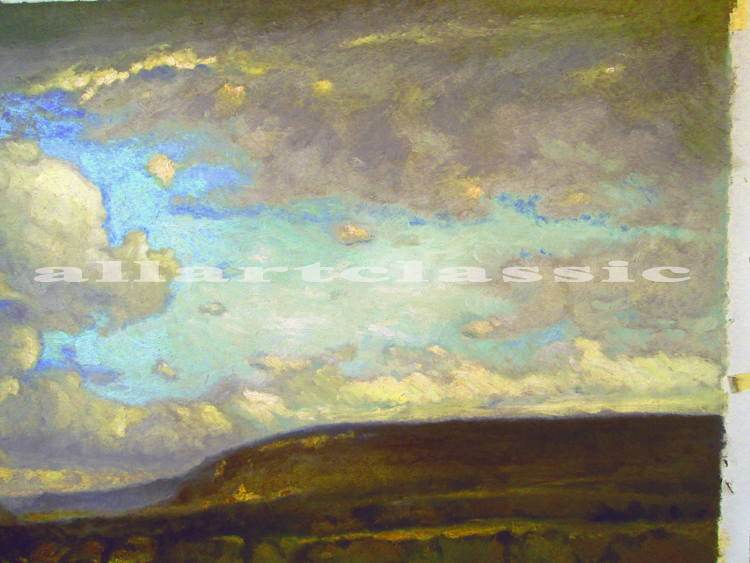 Art Reproductions inness_landscape_painting_A. Our Oil Painting Reproduction -Zoom Details