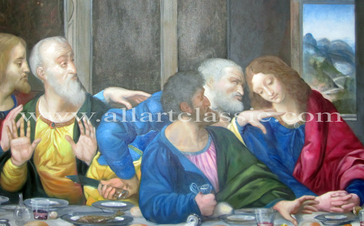 Art Reproductions leonardo_last_supper_painting_L_D. Our Oil Painting Reproduction -Zoom Details