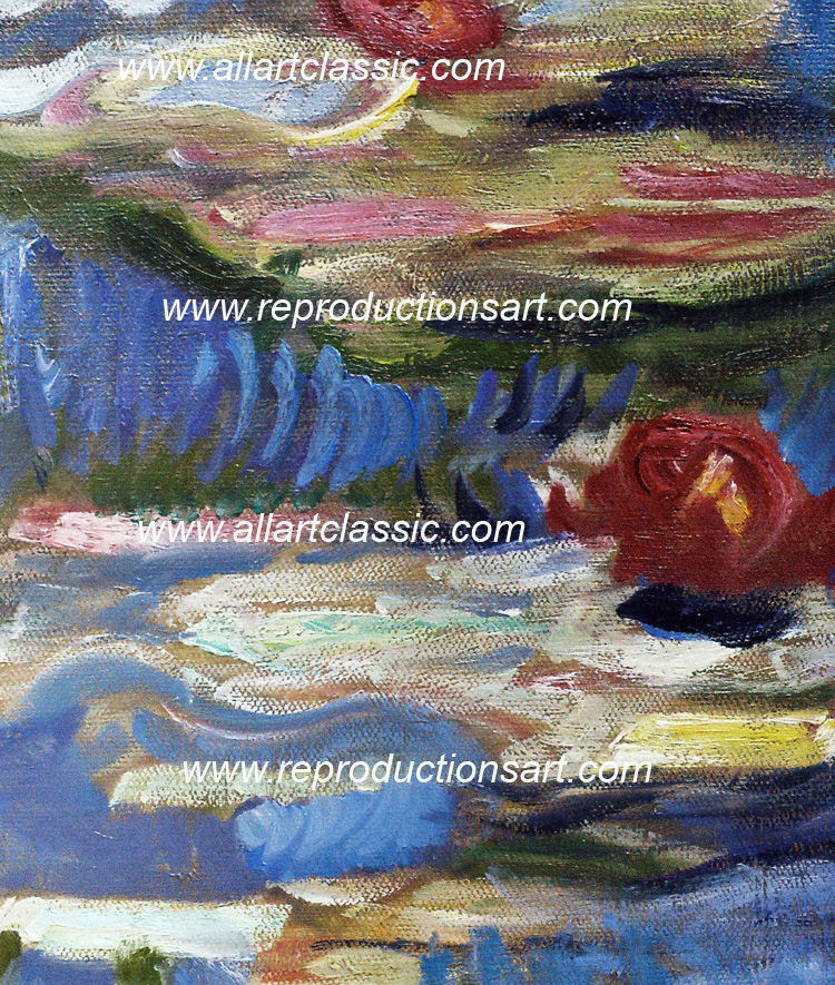 Art Reproductions monet_waterlilies_001N_A. Our Oil Painting Reproduction -Zoom Details