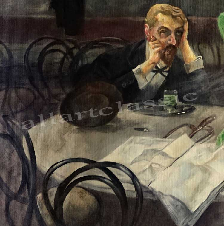 Art Reproductions oliva_absinthe_drinker_painting_A. Our Oil Painting Reproduction -Zoom Details