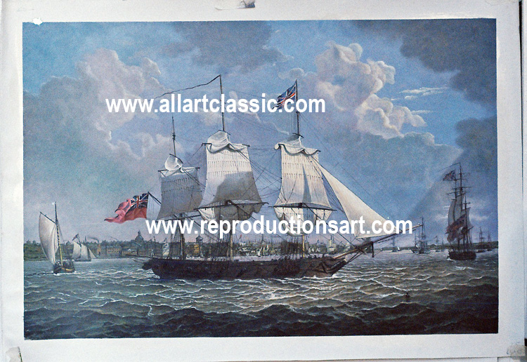 Oil Painting Reproductions of Marine painting by Robert Salmon