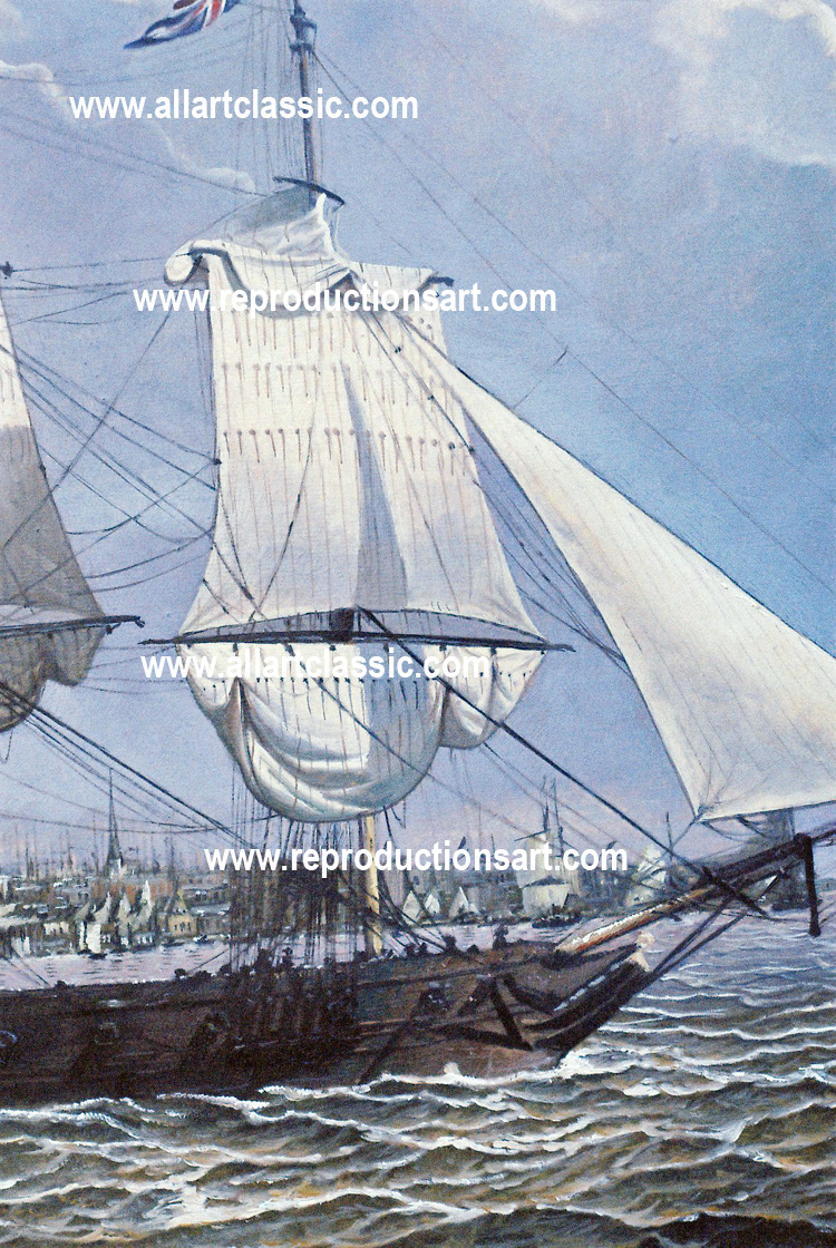 Art Reproductions sea-painting_A. Our Oil Painting Reproduction -Zoom Details